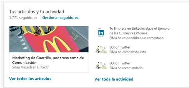 Linkedin actividad