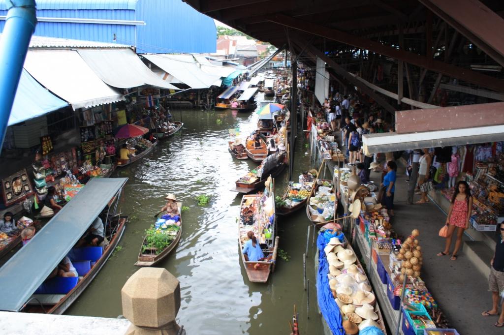 Mercado flotante Damnoen Saduak Tailandia