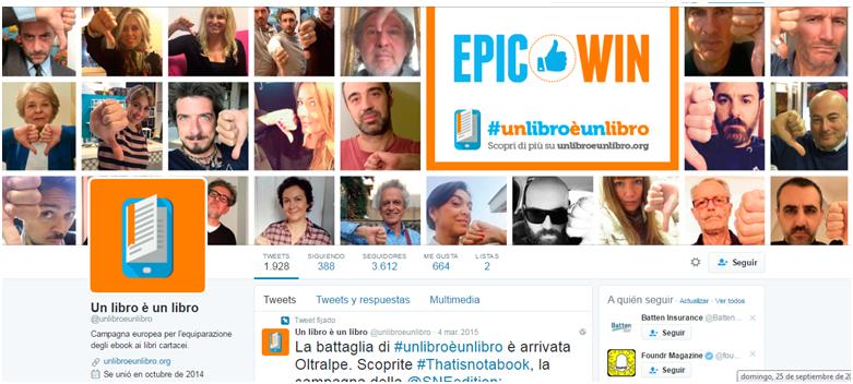 twitter #unlibroèunlibro