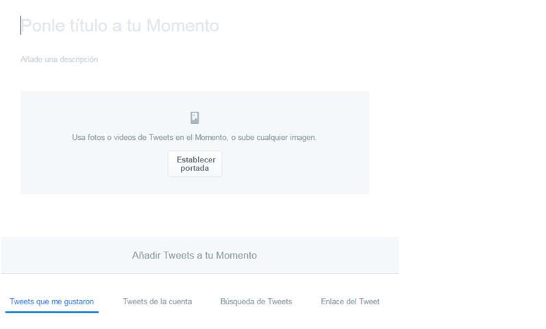 Cómo crear un momento de Twitter