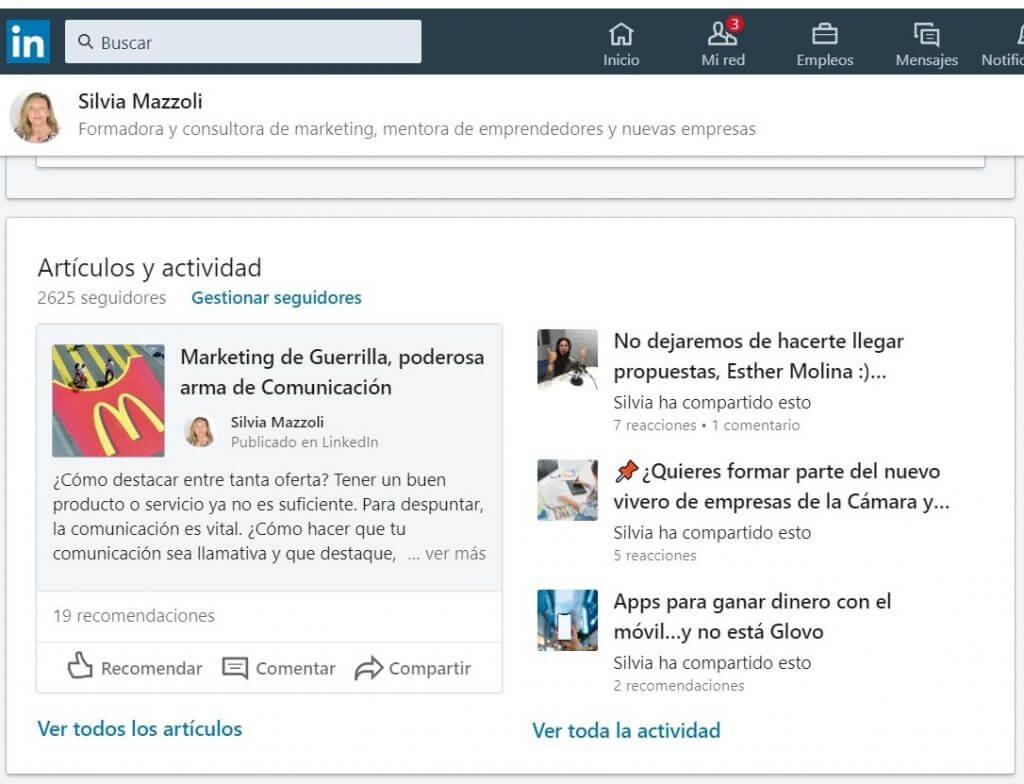 Publicar un articulo en Linkedin Actividad en Linkedin