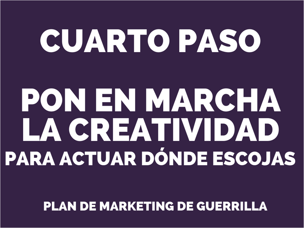 plan de marketing de guerrilla