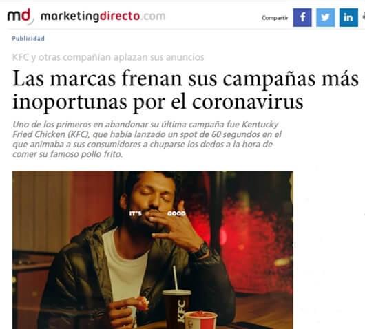 Las marcas frenan campañas inoportunas en tiempos de coronavirus