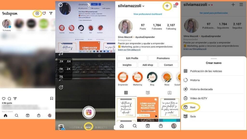 Cómo crear reels de Instagram