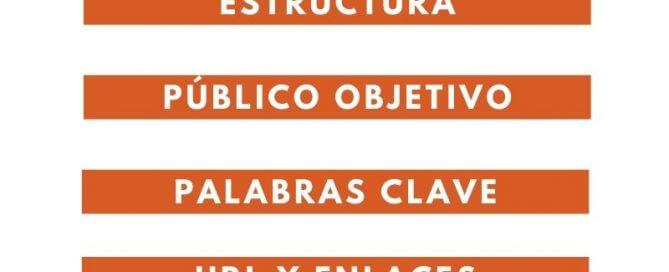 CHECKLIST PARA VALORAR LA EFICACIA DE LA ESTRATEGIA DE CONTENIDOS Y EL SEO